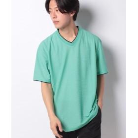 マルカワ 大きいサイズ メンズ コスビー Tシャツ 半袖 Vネック 吸汗速乾 ドライ ブランド メンズ グリーン 5L 【MARUKAWA】