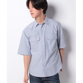 【40%OFF】 コエ オックスストライプ2ポケット半袖シャツ メンズ ネイビー M 【koe】 【セール開催中】