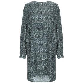 《期間限定セール開催中!》KANGRA CASHMERE レディース ミニワンピース&ドレス グリーン one size シルク 92% / ポリウレタン 8%