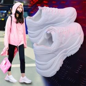 スニーカー/シューズ レディース 厚底スニーカー お洒落 防水 スポーツ シンプル 歩きやすい ベーシック 韓国ファッション