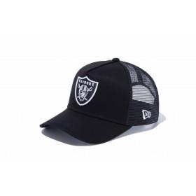 【ニューエラ公式】キッズ 9FORTY A-Frame トラッカー オークラインド・レイダース ブラック × チームカラー 男の子 女の子 52 - 55.8cm NFL キャップ 帽子 12018914 NEW ERA メッシュキャップ