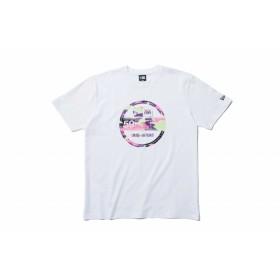 【ニューエラ公式】 コットン Tシャツ カラーカモ バイザーステッカー ホワイト メンズ レディース Large 半袖 Tシャツ 11901401 NEW ERA