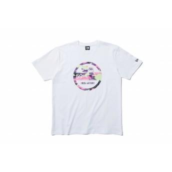 NEW ERA ニューエラ コットン Tシャツ カラーカモ バイザーステッカー ホワイト 半袖 ウェア メンズ レディース Large 11901401 NEWERA