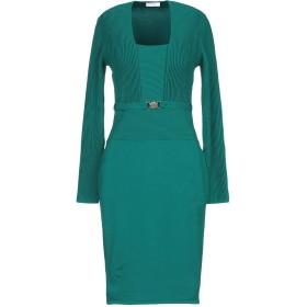 《セール開催中》VERSACE COLLECTION レディース ミニワンピース&ドレス グリーン 42 70% レーヨン 30% ポリエステル