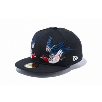 NEW ERA ニューエラ 59FIFTY 石川真澄 Masumi Ishikawa 燕 ブラック ベースボールキャップ キャップ 帽子 メンズ レディース 7 1/4 (57.7cm) 11909225 NEWERA