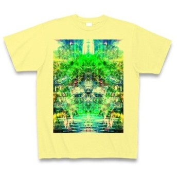 シンジダイ◆アート文字◆ロゴ◆ヘビーウェイト◆半袖◆Tシャツ◆ライトイエロー◆各サイズ選択可