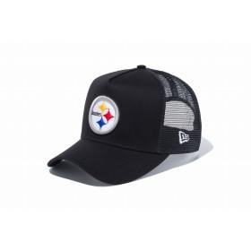 【ニューエラ公式】 9FORTY D-Frame トラッカー ピッツバーグ・スティーラーズ ブラック × チームカラー メンズ レディース 55.8 - 59.6cm NFL キャップ 帽子 11596324 NEW ERA メッシュキャップ