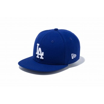 NEW ERA ニューエラ キッズ 9FIFTY ロサンゼルス・ドジャース ダークロイヤル × ホワイト スナップバックキャップ アジャスタブル サイズ調整可能 ベースボールキャップ キャップ 帽子 男の子 女の子 49.2 - 53cm 12018921 NEWERA