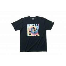 【ニューエラ公式】 パフォーマンス Tシャツ カラータイダイ スクエア ニューエラ ブラック メンズ レディース Large 半袖 Tシャツ 11901338 NEW ERA
