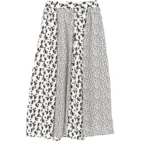 【6,000円(税込)以上のお買物で全国送料無料。】・フラワーパッチワーク切替スカート