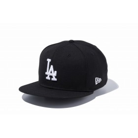NEW ERA ニューエラ 9FIFTY ロサンゼルス・ドジャース ブラック × ホワイト スナップバックキャップ アジャスタブル サイズ調整可能 ベースボールキャップ キャップ 帽子 メンズ レディース 57.7 - 61.5cm 11308479 NEWERA