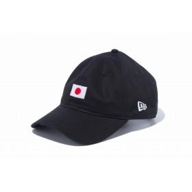 【ニューエラ公式】 9THIRTY クロスストラップ ナショナルフラッグ 日本 ブラック メンズ レディース 56.8 - 60.6cm キャップ 帽子 12026722 NEW ERA