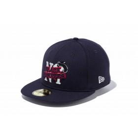 【ニューエラ公式】 59FIFTY ニグロリーグ ニューヨーク・ブラックヤンキース ネイビー × チームカラー メンズ レディース 7 1/4 (57.7cm) キャップ 帽子 11899305 NEW ERA