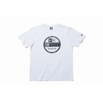 【ニューエラ公式】 コットン Tシャツ タイガーストライプラインカモ バイザーステッカー ホワイト メンズ レディース Large 半袖 Tシャツ 11901376 NEW ERA