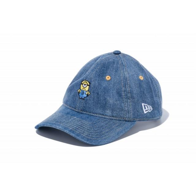 【ニューエラ公式】 9THIRTY ミニオン メル ミニロゴ ウォッシュドデニム メンズ レディース 56.8 - 60.6cm キャップ 帽子 11909190 コラボ NEW ERA