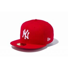 【ニューエラ公式】 59FIFTY MLB ニューヨーク・ヤンキース スカーレット × ホワイト メンズ レディース 7 (55.8cm) MLB キャップ 帽子 11308546 NEW ERA