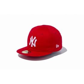 【ニューエラ公式】キッズ My 1st 59FIFTY ニューヨーク・ヤンキース スカーレット × ホワイト 男の子 女の子 6 (48.3cm) MLB キャップ 帽子 11225743 NEW ERA