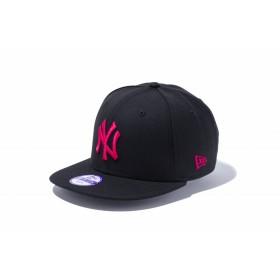 【ニューエラ公式】キッズ 9FIFTY ニューヨーク・ヤンキース ブラック × ストロベリー 男の子 女の子 52 - 55.8cm MLB キャップ 帽子 11308373 NEW ERA
