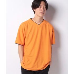 【12%OFF】 マルカワ 大きいサイズ メンズ コスビー Tシャツ 半袖 Vネック 吸汗速乾 ドライ ブランド メンズ オレンジ 5L 【MARUKAWA】 【タイムセール開催中】