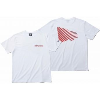 NEW ERA ニューエラ コットン Tシャツ ジオウェーブ フラッグ ホワイト × マルーン 半袖 ウェア メンズ レディース Large 11901395 NEWERA