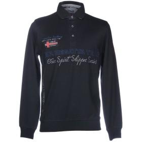 《期間限定 セール開催中》IMPULSO メンズ ポロシャツ ダークブルー S コットン 100%
