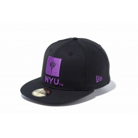 【ニューエラ公式】 59FIFTY ニューヨーク大学 NYU ブラック × オフィシャルロゴカラー メンズ レディース 7 (55.8cm) キャップ 帽子 11903773 コラボ NEW ERA