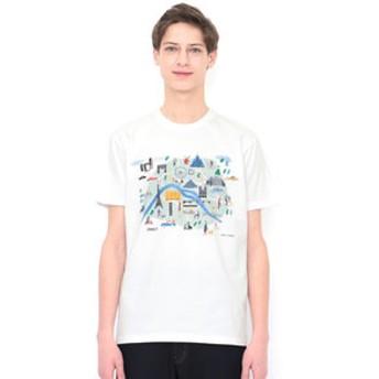 【グラニフ:トップス】グラニフ Tシャツ メンズ レディース 半袖 パリ(ローラユンガー)