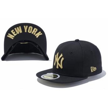NEW ERA ニューエラ キッズ 59FIFTY UNDERVISOR ニューヨーク・ヤンキース ブラック × ゴールド NEW YORK ベースボールキャップ キャップ 帽子 男の子 女の子 6 1/2 (52cm) 11310394 NEWERA