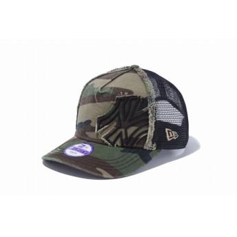 NEW ERA ニューエラ キッズ 9FORTY A-Frame トラッカー Battalion ニューヨーク・ヤンキース ウッドランドカモ × ブラック アジャスタブル サイズ調整可能 ベースボールキャップ キャップ 帽子 男の子 女の子 52 - 55.8cm 11248776 NEWERA メッシュキャップ