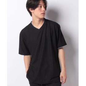 【32%OFF】 マルカワ 大きいサイズ メンズ コスビー Tシャツ 半袖 Vネック 吸汗速乾 ドライ ブランド メンズ ブラック 5L 【MARUKAWA】 【タイムセール開催中】