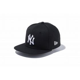 【ニューエラ公式】キッズ 9FIFTY ニューヨーク・ヤンキース ブラック × ホワイト 男の子 女の子 49.2 - 53cm MLB キャップ 帽子 11596318 NEW ERA
