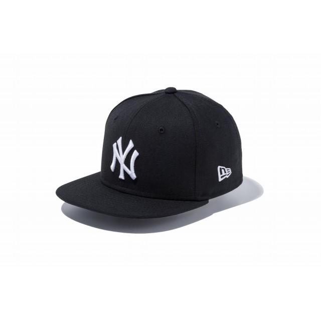 NEW ERA ニューエラ キッズ 9FIFTY ニューヨーク・ヤンキース ブラック × ホワイト スナップバックキャップ アジャスタブル サイズ調整可能 ベースボールキャップ キャップ 帽子 男の子 女の子 49.2 - 53cm 11596318 NEWERA