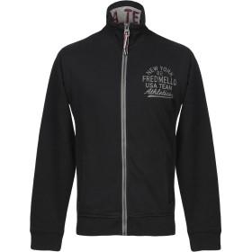 《セール開催中》FRED MELLO メンズ スウェットシャツ ブラック XL コットン 100%