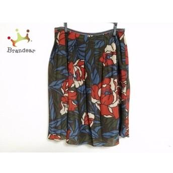 ロイスクレヨン Lois CRAYON スカート サイズM レディース ダークブラウン×レッド×マルチ 花柄 スペシャル特価 20190825