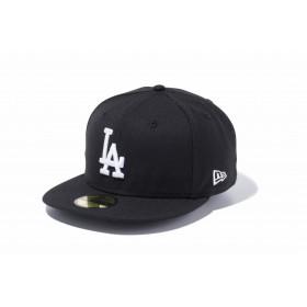 【ニューエラ公式】 59FIFTY MLB ロサンゼルス・ドジャース ブラック × ホワイト メンズ レディース 7 (55.8cm) MLB キャップ 帽子 11308624 NEW ERA