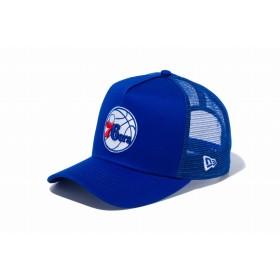 【ニューエラ公式】 9FORTY D-Frame トラッカー フィラデルフィア・セブンティシクサーズ ブルー × チームカラー メンズ レディース 55.8 - 59.6cm NBA キャップ 帽子 12018959 NEW ERA メッシュキャップ