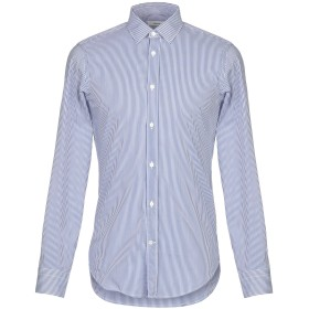 《セール開催中》MAURO GRIFONI メンズ シャツ ブルー 40 コットン 72% / ナイロン 25% / ポリウレタン 3%