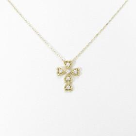 【リメイク】K18YG クロス ダイヤモンドネックレス