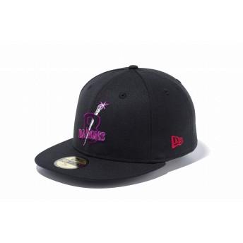 NEW ERA ニューエラ 59FIFTY ニグロリーグ バーミンガム・ブラックバロンズ ブラック × チームカラー ベースボールキャップ キャップ 帽子 メンズ レディース 7 (55.8cm) 11899314 NEWERA