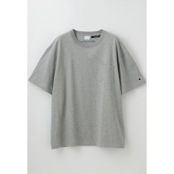 LOVELESS 【Champion】MEN 別注ビッグシルエットエンブロイダリーポケットTシャツ Tシャツ・カットソー,グレー