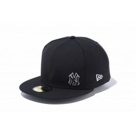 NEW ERA ニューエラ 59FIFTY ニューヨーク・ヤンキース フローレス ブラック × ホワイト ベースボールキャップ キャップ 帽子 メンズ レディース 7 3/8 (58.7cm) 12028786 NEWERA