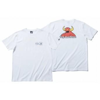 コットン Tシャツ トイマシーン ホワイト バックプリント