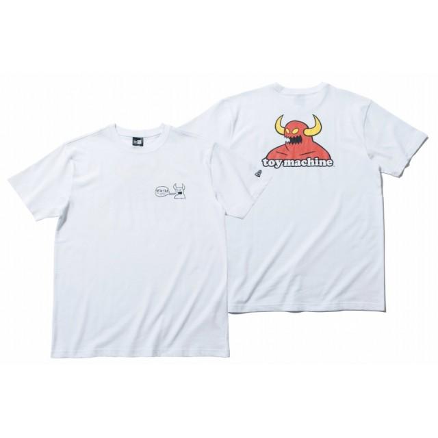 【ニューエラ公式】 コットン Tシャツ トイマシーン ホワイト バックプリント メンズ レディース Small 半袖 Tシャツ 11909098 コラボ NEW ERA