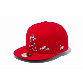 【ニューエラ公式】 59FIFTY 大谷翔平 シグネチャー刺繍 ロサンゼルス・エンゼルス チームカラー メンズ レディース 7 1/2 (59.6cm) MLB キャップ 帽子 12026106 NEW ERA