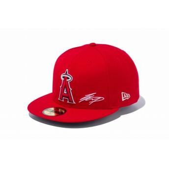 NEW ERA ニューエラ 59FIFTY 大谷翔平 シグネチャー刺繍 ロサンゼルス・エンゼルス チームカラー ベースボールキャップ キャップ 帽子 メンズ レディース 7 1/4 (57.7cm) 12026106 NEWERA
