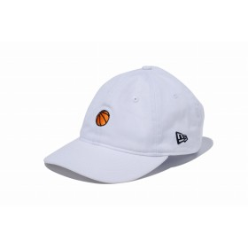 【ニューエラ公式】 9THIRTY クロスストラップ ミニロゴ バスケットボール ホワイト メンズ レディース 56.8 - 60.6cm キャップ 帽子 11899262 NEW ERA