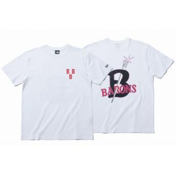 【ニューエラ公式】 コットン Tシャツ ニグロリーグ バーミンガム・ブラックバロンズ ホワイト メンズ レディース Large Tシャツ 11900243 NEW ERA