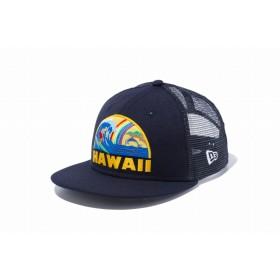 【ニューエラ公式】キッズ 9FIFTY トラッカー ハワイ オーシャンリゾート ネイビー 男の子 女の子 52 - 55.8cm キャップ 帽子 12028715 NEW ERA