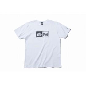 NEW ERA ニューエラ コットン Tシャツ ボックスロゴ ホワイト × ブラック 半袖 ウェア メンズ レディース Large 11783006 NEWERA