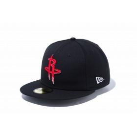 【ニューエラ公式】 59FIFTY NBA ヒューストン・ロケッツ ブラック × チームカラー メンズ レディース 7 (55.8cm) NBA キャップ 帽子 12019018 NEW ERA